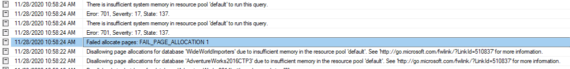 Failed Allocate Pages - Insufficient System Memory