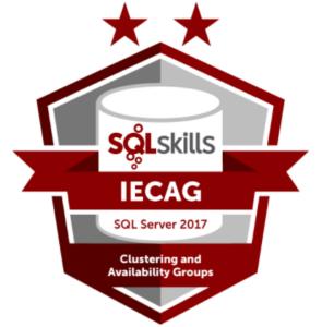 SQLSkills IECAG Credly Badge Image