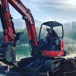Excavating near Bull River Montana