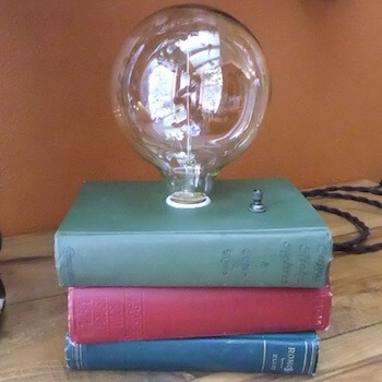 Book Lamp with Large Bulb