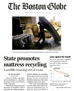 Boston Globe feat Mattress Recycling