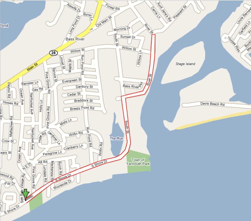 YPDBlue Course Map