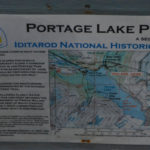 Sign that details what part of the lake is open to travel by what sort of craft.
