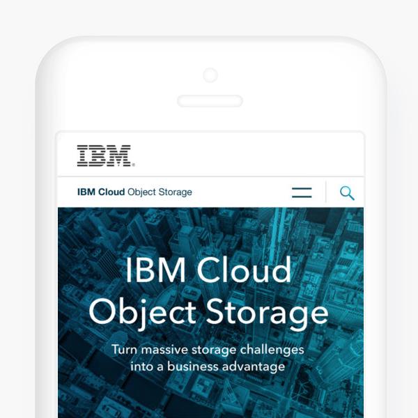 IBM CLOUD OBJECT STORAGE WEBSITE