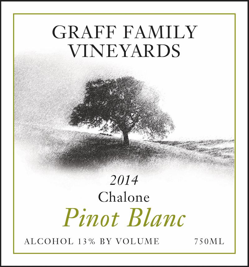 Graff Family Vineyards Pinot Blanc wine label