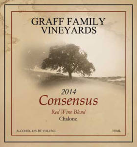 Consensus Blend from Graff Family Vineyards wine label