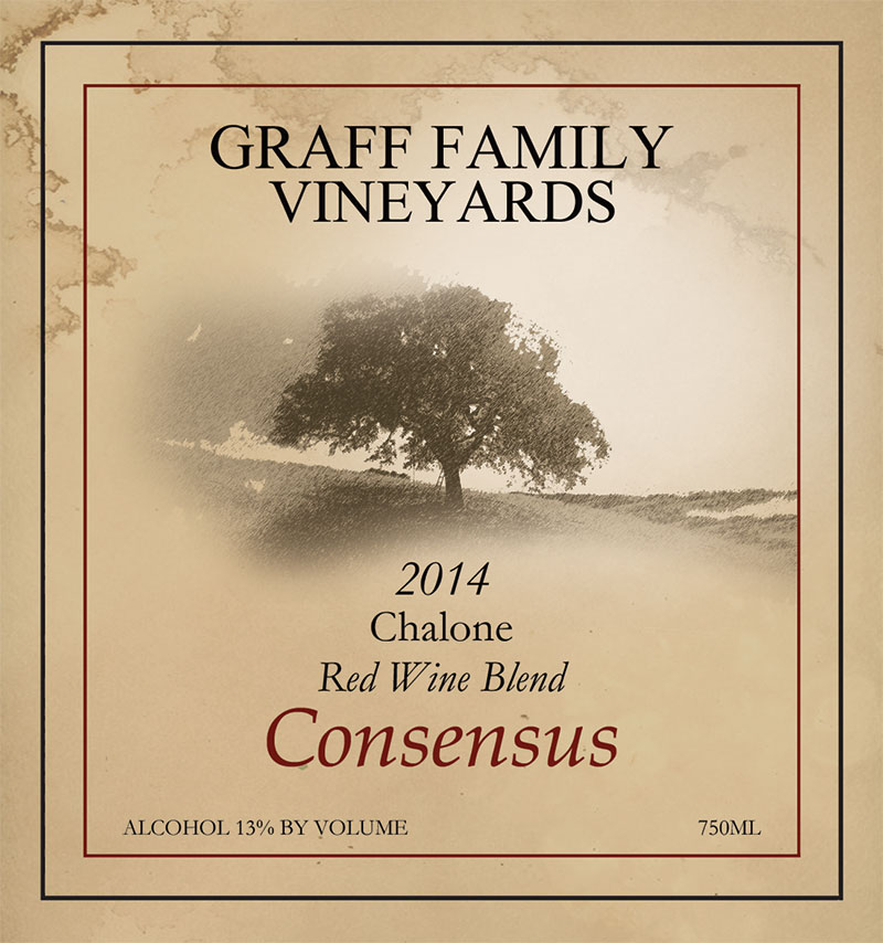 Graff Family Vineyards Consensus red wine blend from 2014