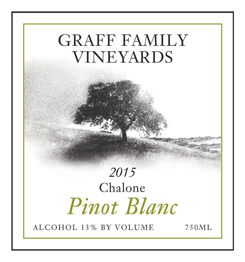 Graff Family Vineyards Pinot Blanc white wine from 2014