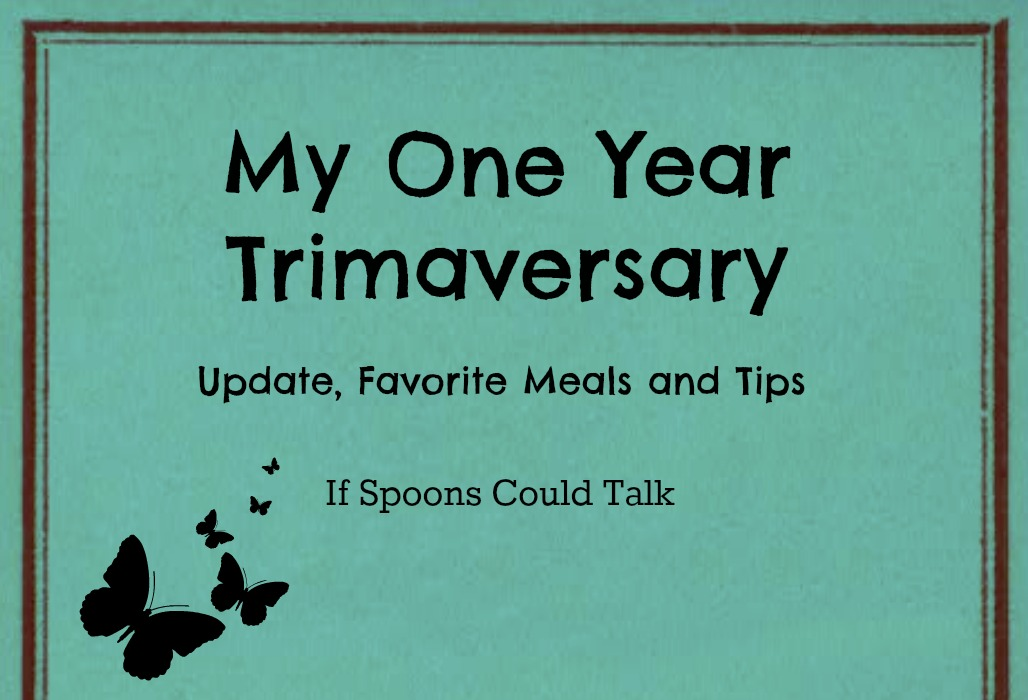 Celebrating my One year of being on the Trim Healthy Mama plan. Sharing before and afters, tips, favorite foods and some links.
