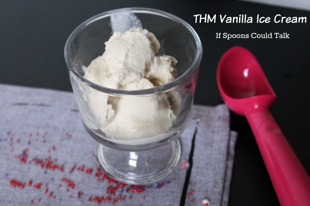 This ice cream tastes like your typical vanilla ice cream, but there is no need for guilt. This delicious ice cream is sugar-free, low-carb, and a THM Heavy S. The best part is no one would know it! Also a great base recipe for many other flavors.