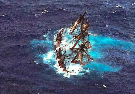 Il Bounty affonda