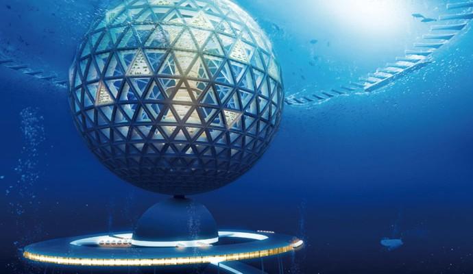 La capsula della città sottomarina
