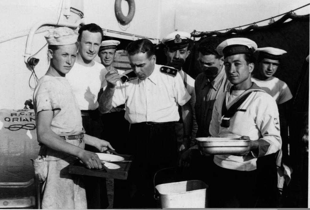 Mangiare a bordo di una nave