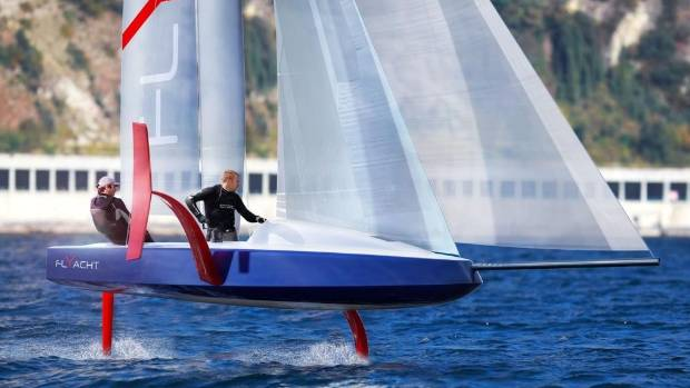 Monohull Foiling America's Cup concept 6.50 meters