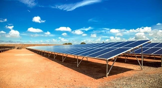 Solar Farm, In The California Desert