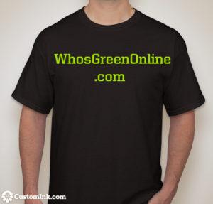 WhosGreenOnline Black T-Shirt