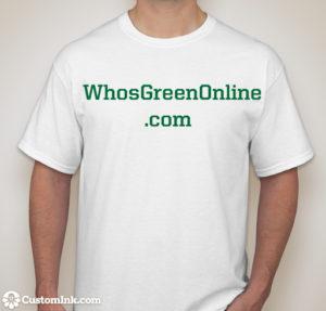 WhosGreenOnline White T-Shirt
