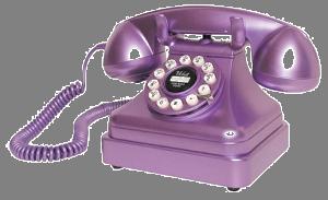 Purple phone transparent