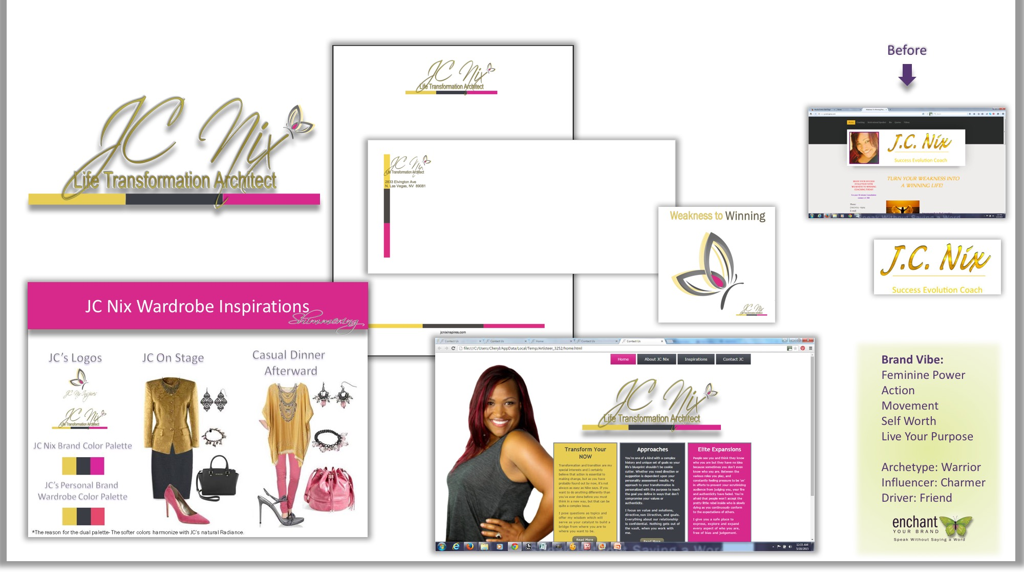Brand Identity Kit, Website Concept, Personal Branding Capsule