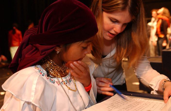 Child delegate at the UN.