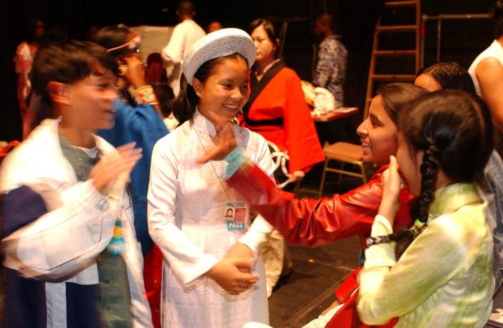 Child delegates at the UN.