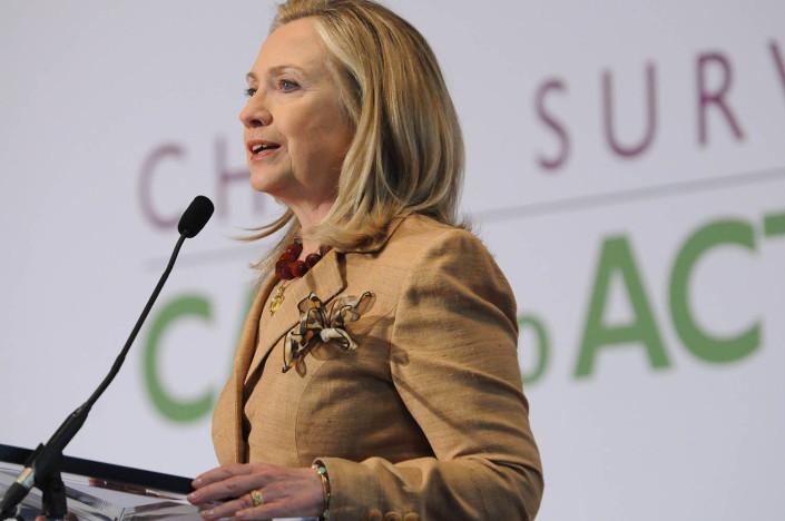 US Secretary of State Hillary Rodham Clinton in Washington, DC