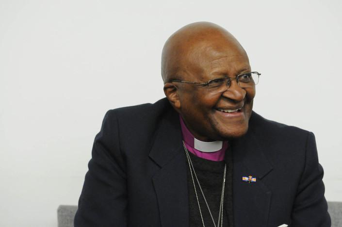 Archbishop Desmond Tutu addresses the United Nations