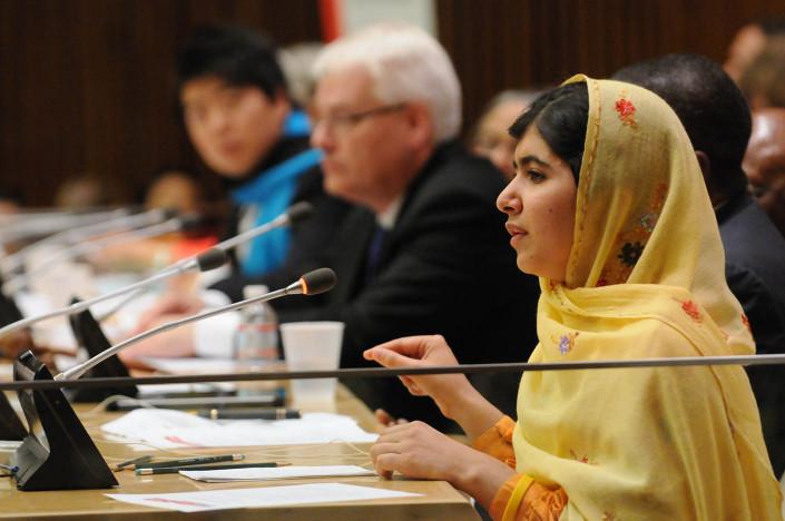 Education Activist Malala addresses the United Nations
