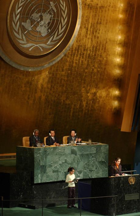 Bolivia and Monaco Child Delegates at the UN.