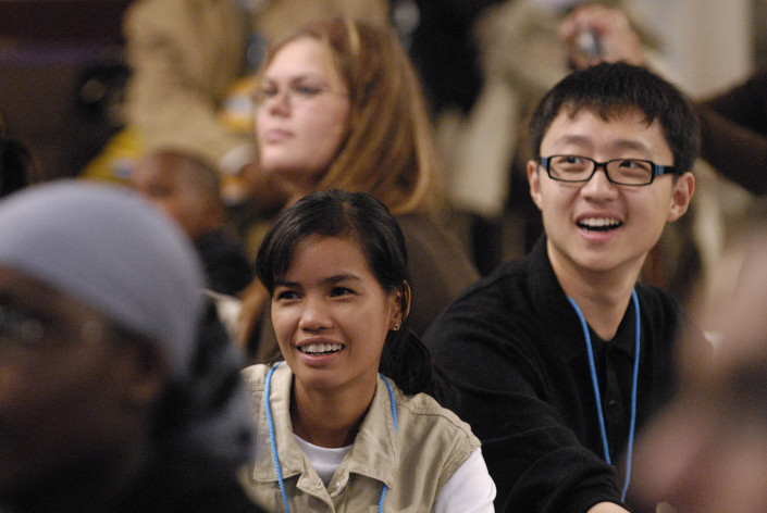 Cambodian and Chinese Child Delegates at a meeting in New York City.