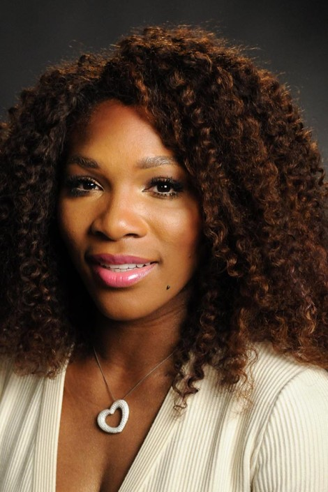 US tennis champion and UNICEF Goodwill Ambassador Serena Williams, smiles during a portrait session.