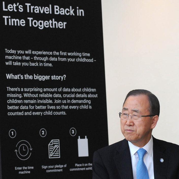 UN Secretary General Ban Ki moon attends an event at UN Headquarters.