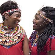 Samburu activists Jane Meriwas and Jacinta Silakan at the United Nations
