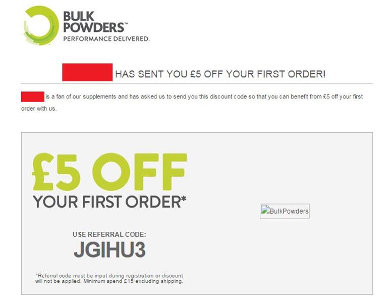 bulk powders referral code email bulk powders discount code