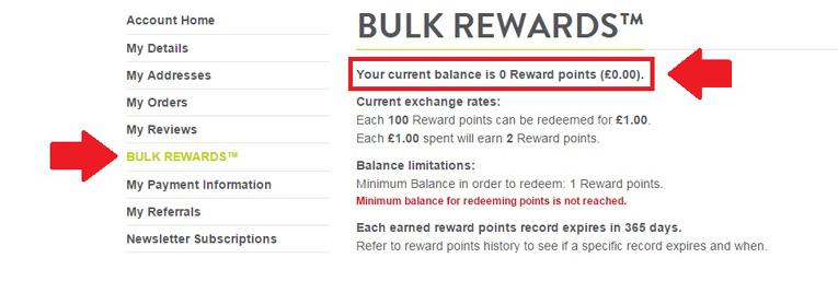 how to check bulk rewards points