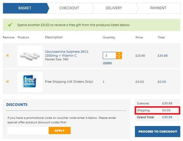 Zipvit Discount Code - Screenshot #4 Free Delivery Applied