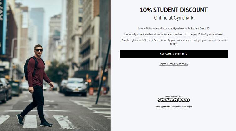 Gymshark student discount code - Student Beans Gymshark 10% off