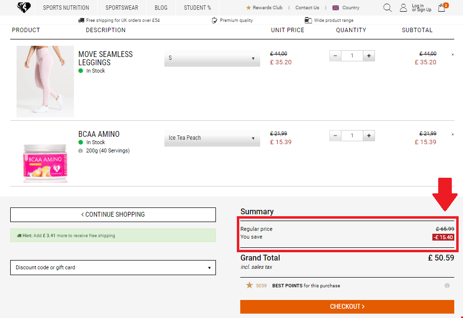 Savings from using a Women's Best Discount Code - CheckMeowt