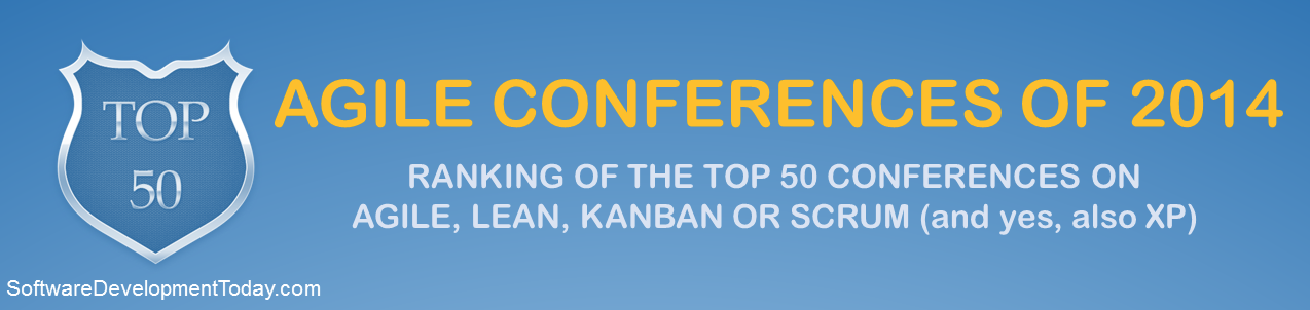 Top 50 Agile Conferences headline banner
