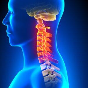Cervical Spine Anatomy Pain concept