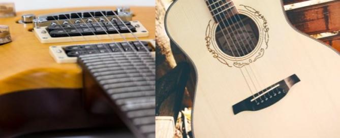 Electric vs Acoustic Guitar Lessons Burlington