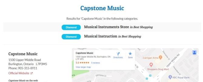 Best Music Lessons Burlington Reader's Choice 2018