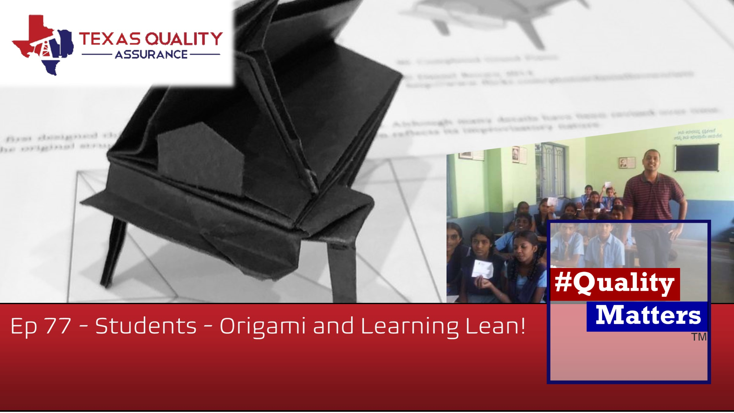 Using Origami to teach Six Sigma