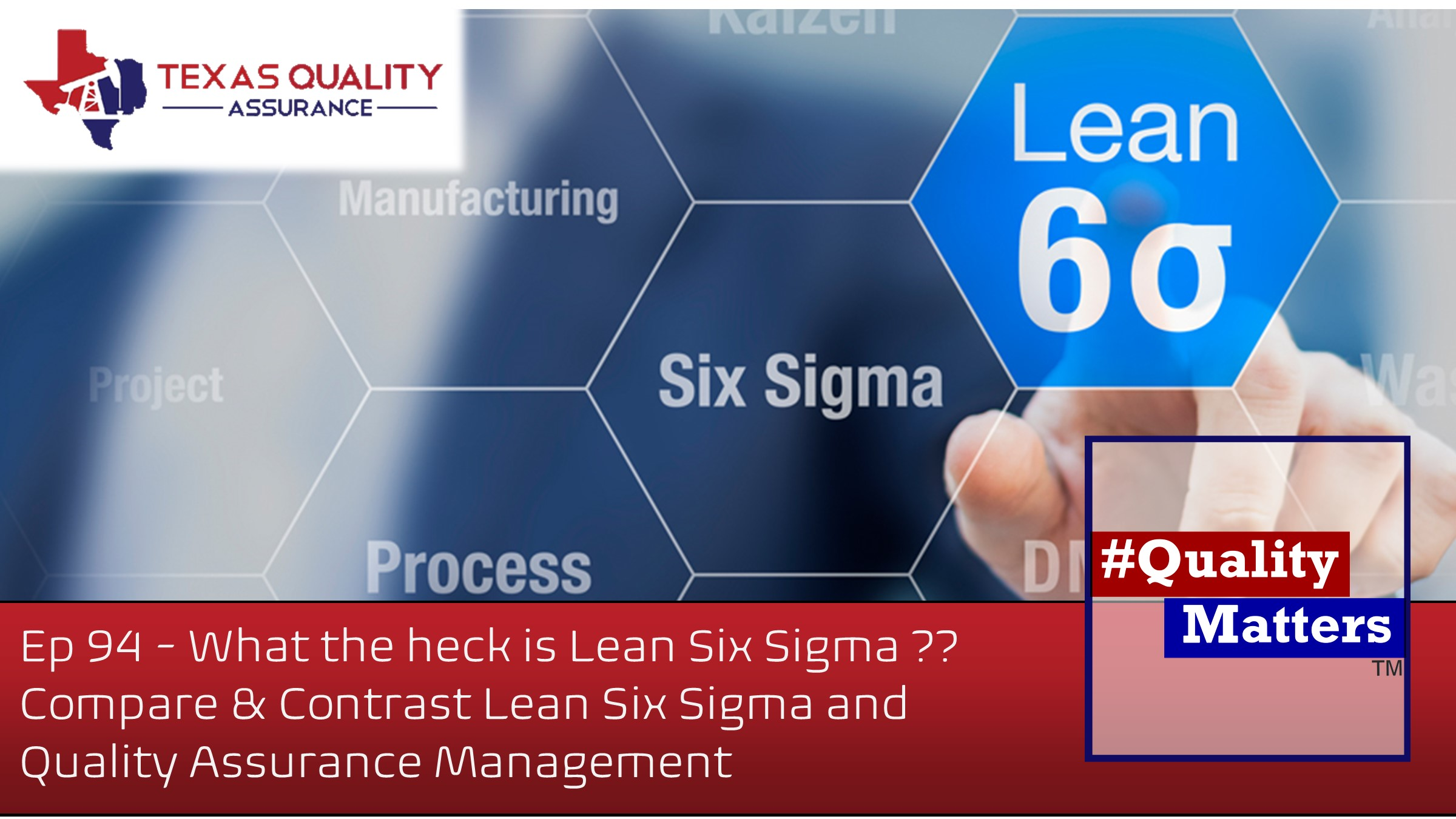 Ep 94 – What the heck is Lean Six Sigma — Compare & Contrast Lean Six Sigma and Quality Assurance Management