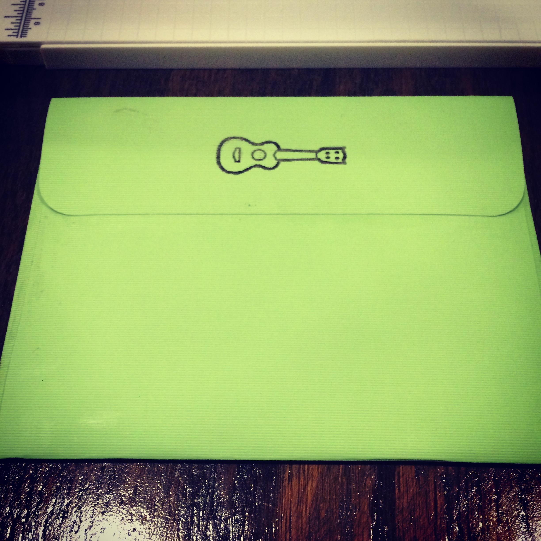 Draw with Cricut Explore - Guitar Envelope