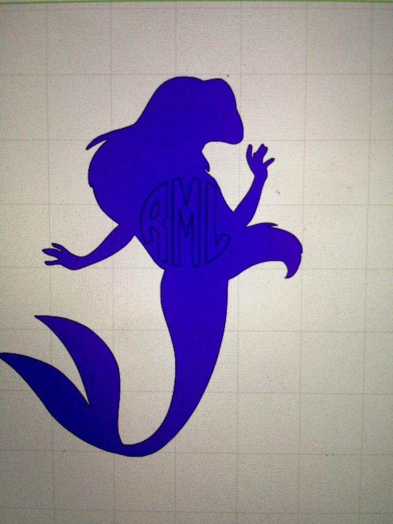 Little Mermaid Ideas for Cricut Explore - DIY with Vinyl