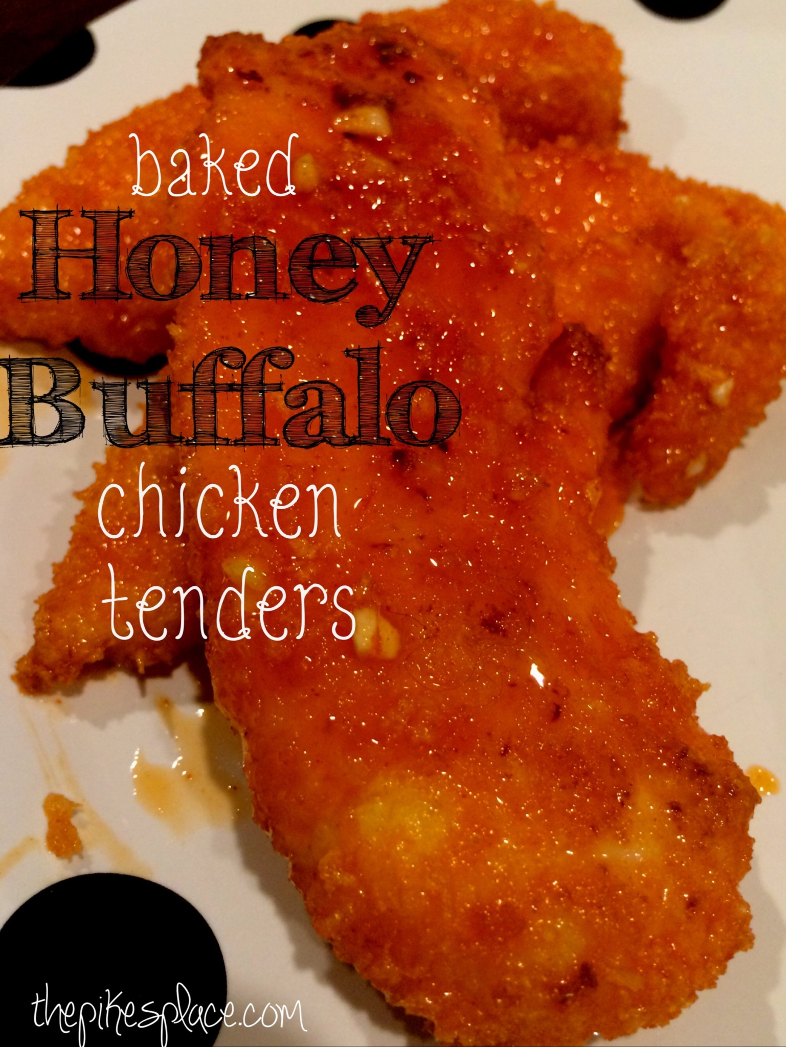 Baked Honey Buffalo Chicken Tenders. The healthier non-friend chicken tender recipe will have you and your family coming back for more!