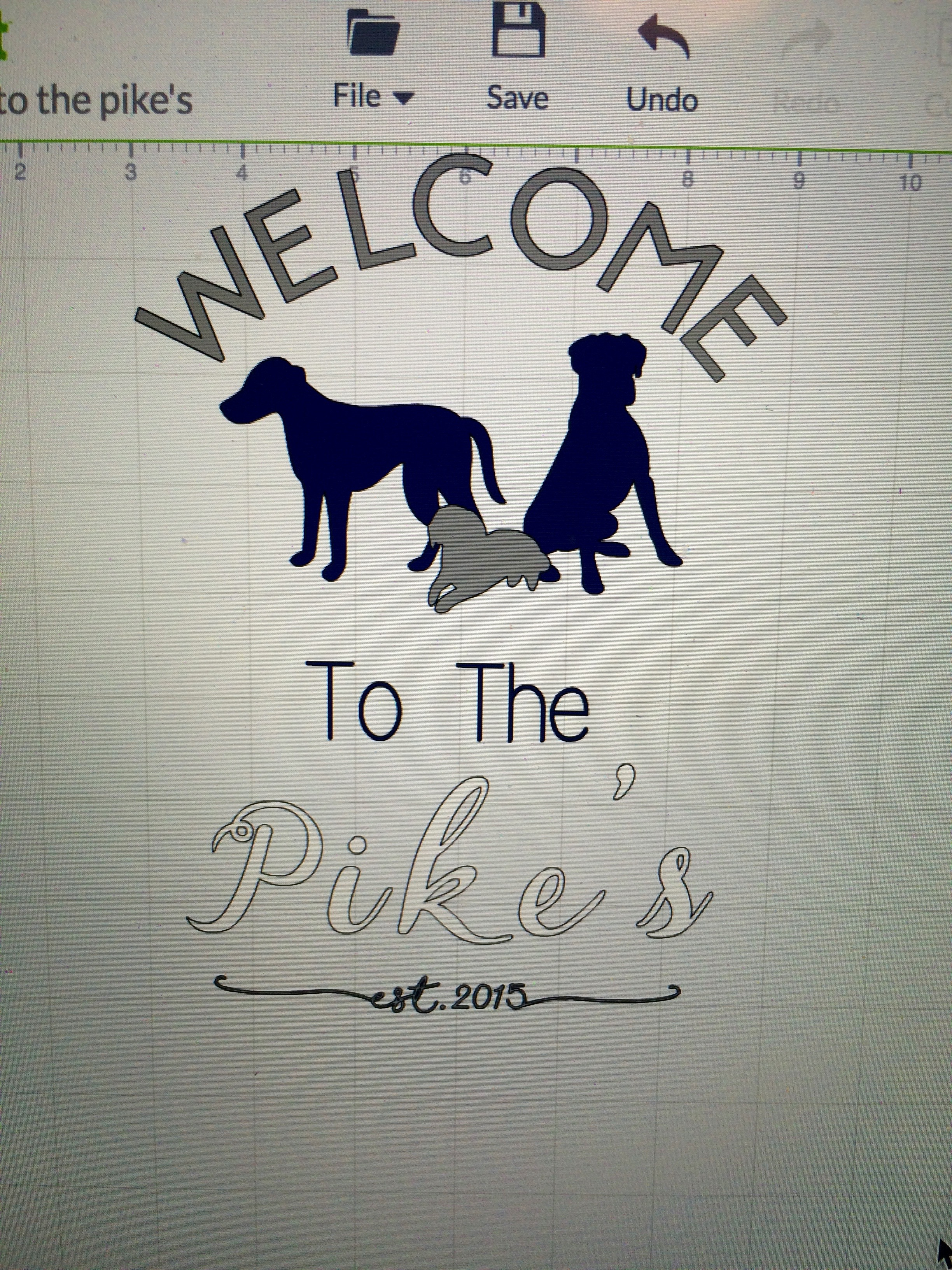 Incorporate Your Dogs into this DIY Welcome Sign for Home Entryway Using a Cricut Die Machine and Vinyl