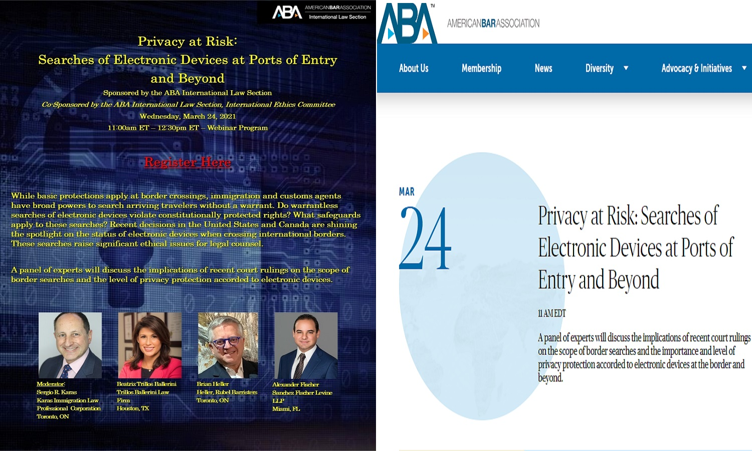 Firm Partner to Speak at ABA International Law Panel on March 24