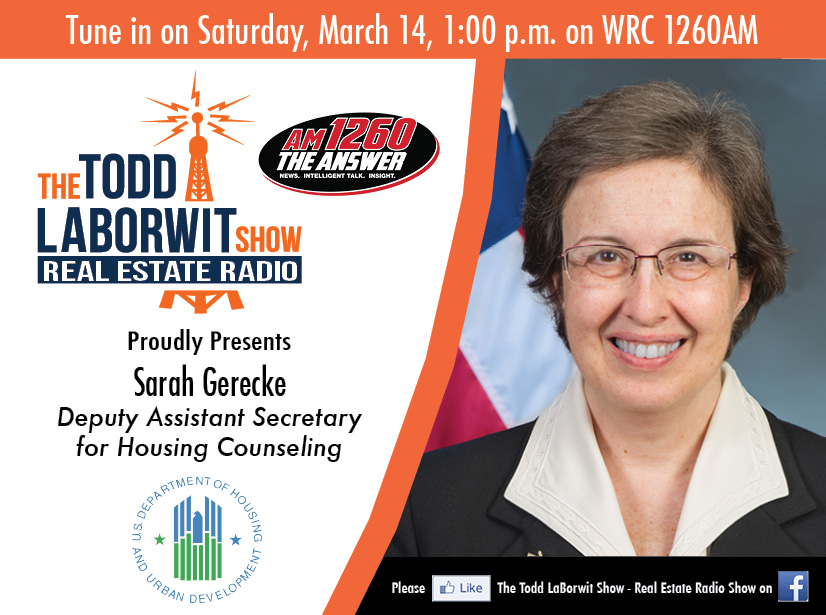 Sarah Gerecke, Deputy Assistant Secretary for Housing Counseling, U.S. Department of housing and urban development